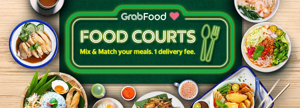 Grab Launches Food Courts GrabFood Pasar GrabMart Expands