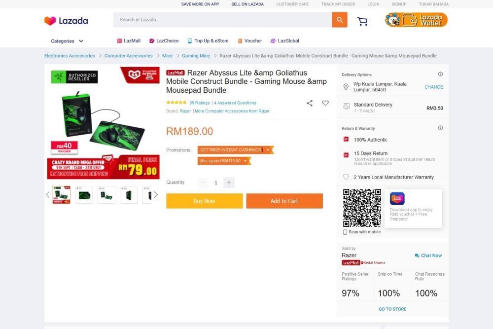 Razer deal lazada 9.9