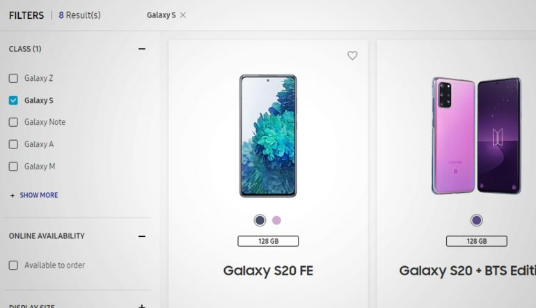 Samsung S20 FE Philippines Website
