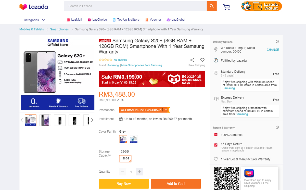 Samsung Smartphones Discounted Lazada 9.9 Sale