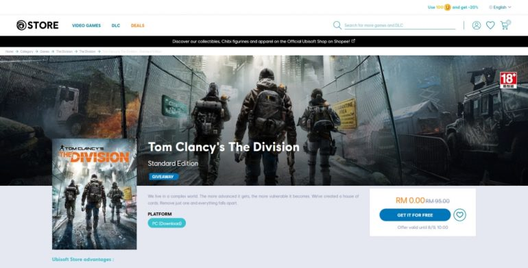 Tom Clancy's The Division Uplay free