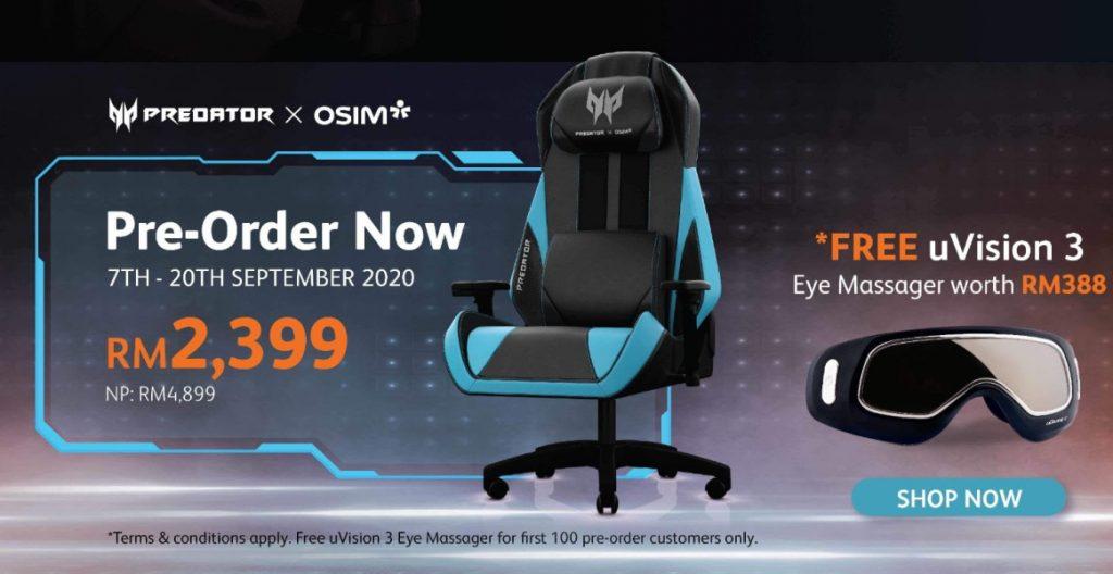 Acer Predator OSIM Massage Gaming Chair