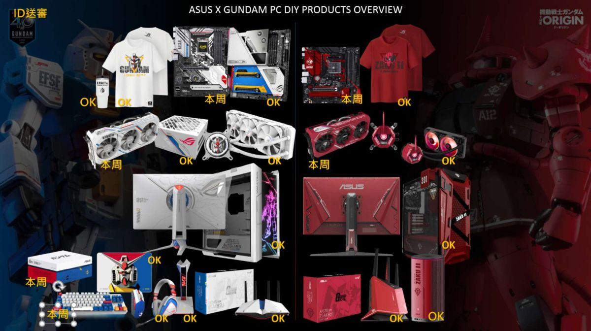 ASUS Gundam theme products