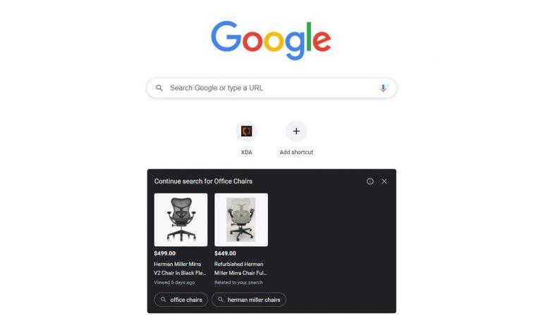 Google Chrome Ads New Tab Page