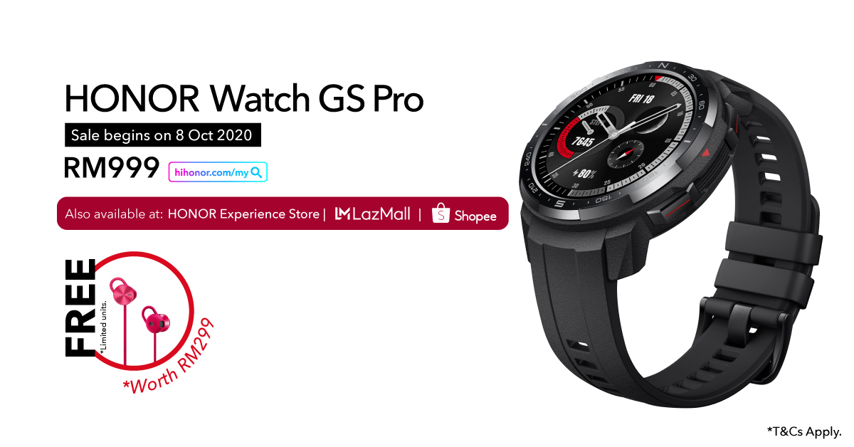 HONOR MagicBook Pro Watch GS Pro Available Malaysia 8 October