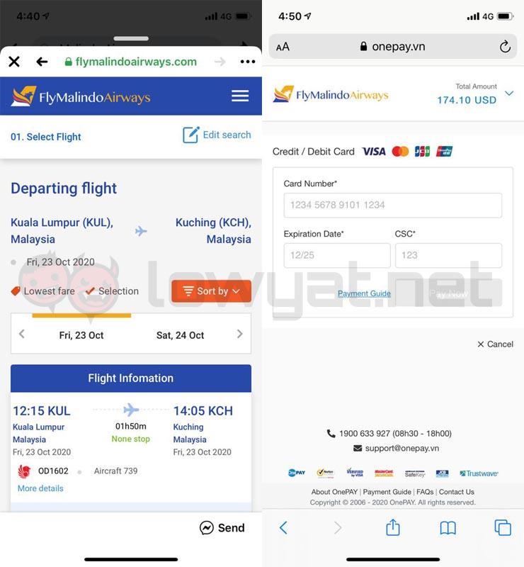 Malindo Air Warns Customers Of Fake Website