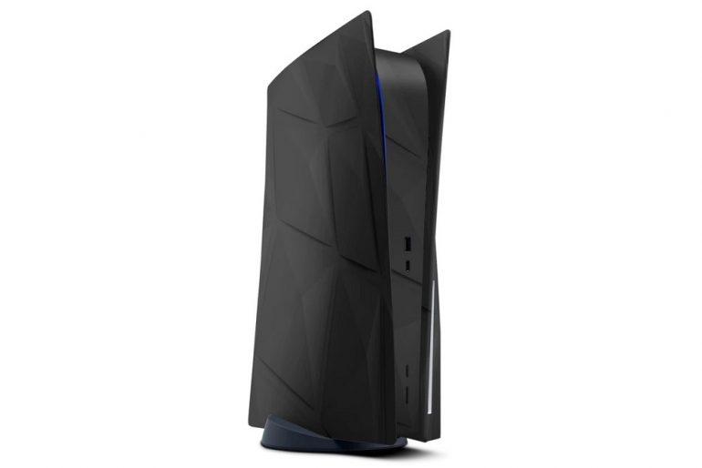 PS5 skin black
