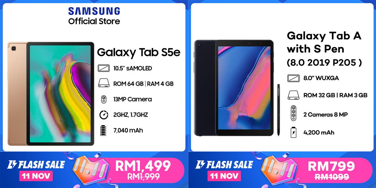 Samsung Galaxy Tab Tablet Offer 11.11 Sale