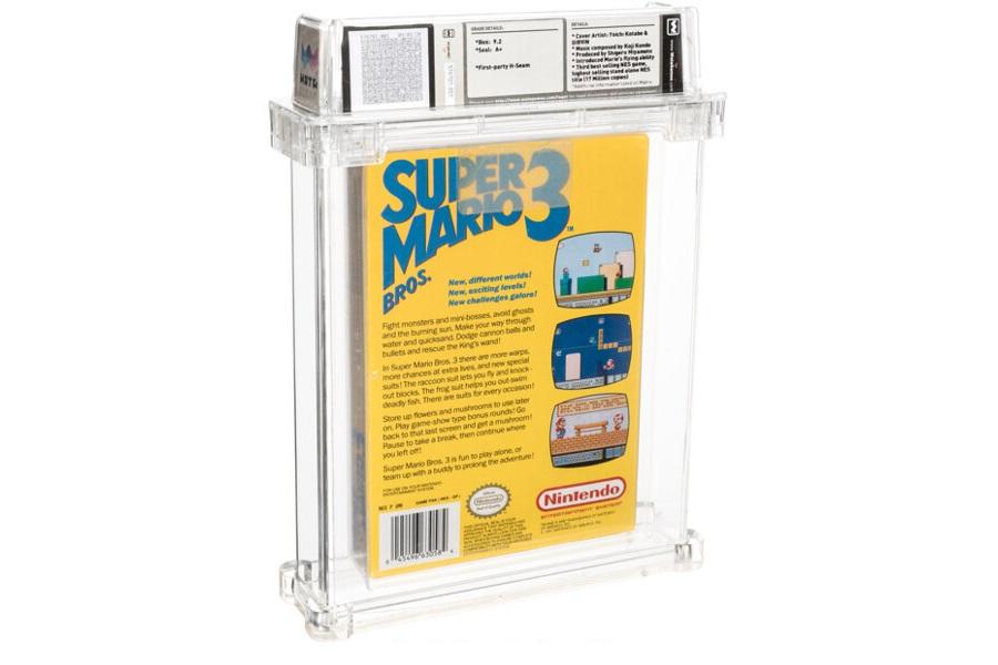 Super Mario Bros 3 auction back