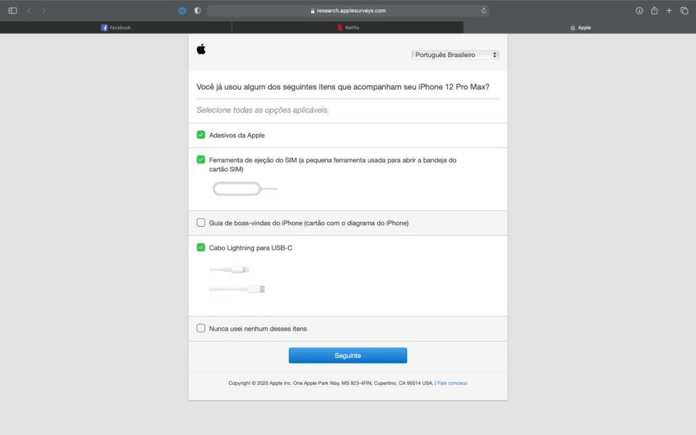 Apple survey USB SIM eject