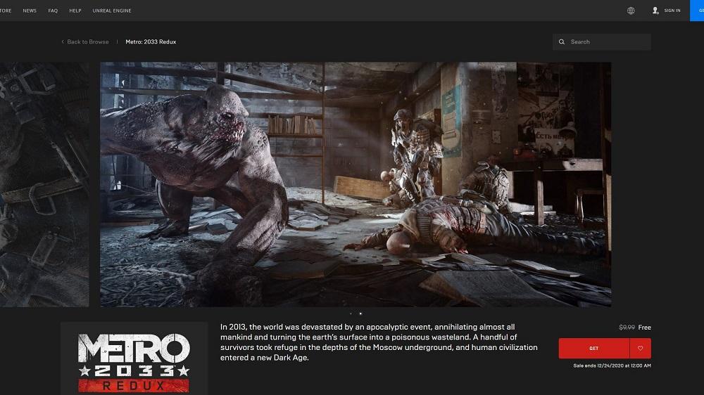 Metro 2033 Redux EGS Free