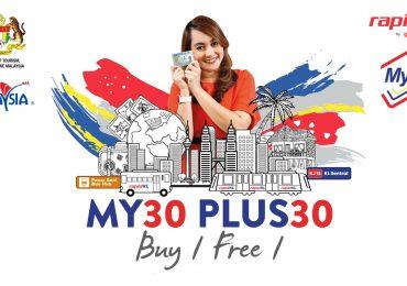 Prasarana Buy One Free One Rapid KL MY30 Pass