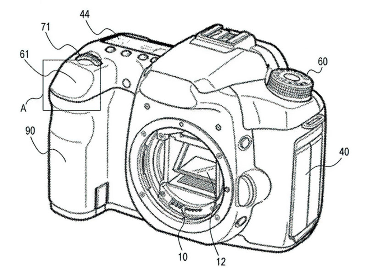 canon patent touchpad shutter button