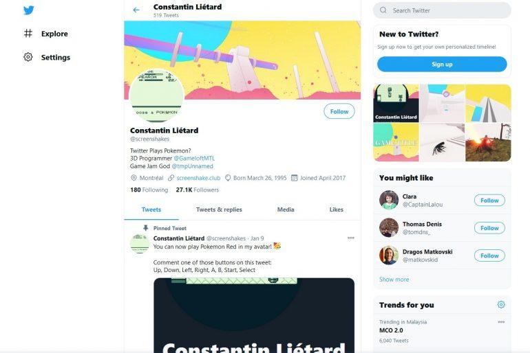 Constantin Liétard Twitter Pokemon Red