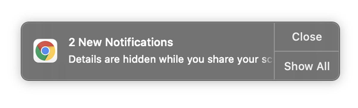 Google Chrome Mute Hide Notifications Update Screen Sharing