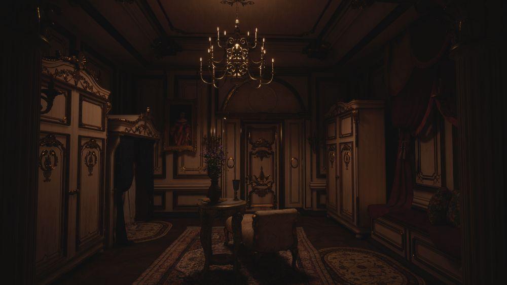 Resident Evil Village Maiden castle room