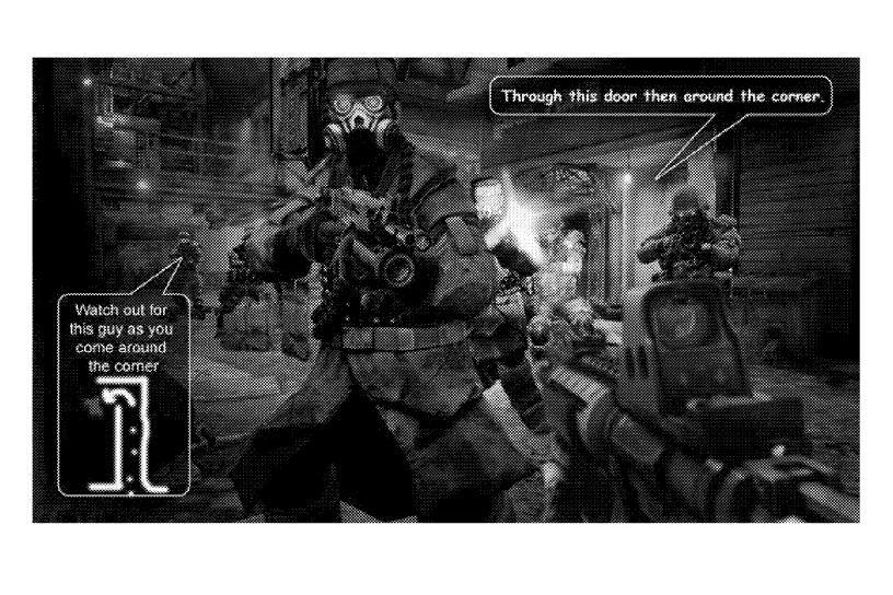 Sony patent Killzone in-game tips