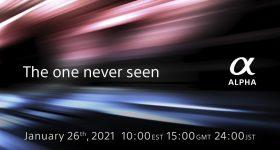 Sony New Alpha Camera Unveiling 26 January