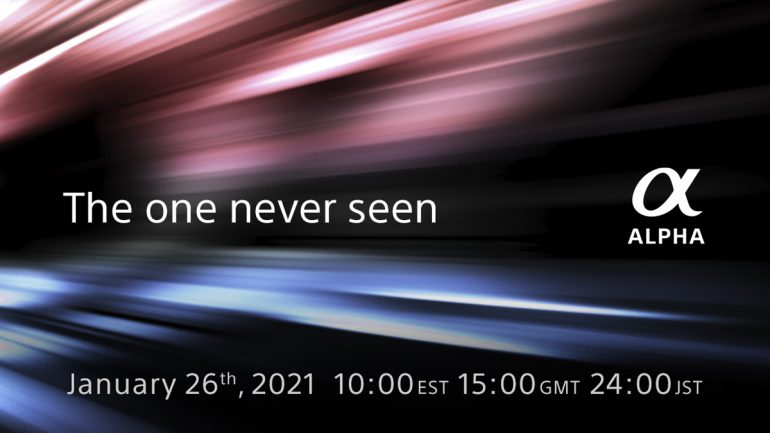 Sony New Alpha Camera Unveiling 26 January