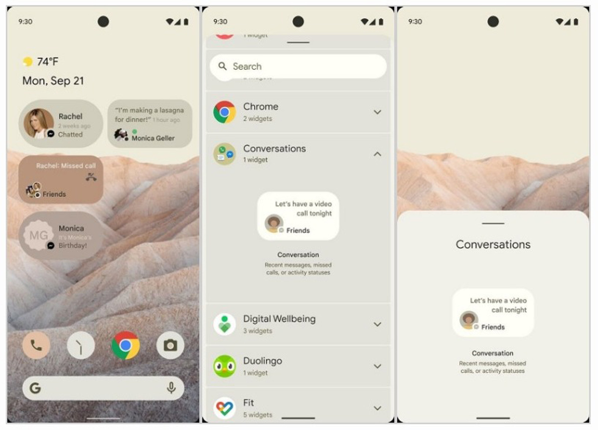 Android 12 Mockup Leaks