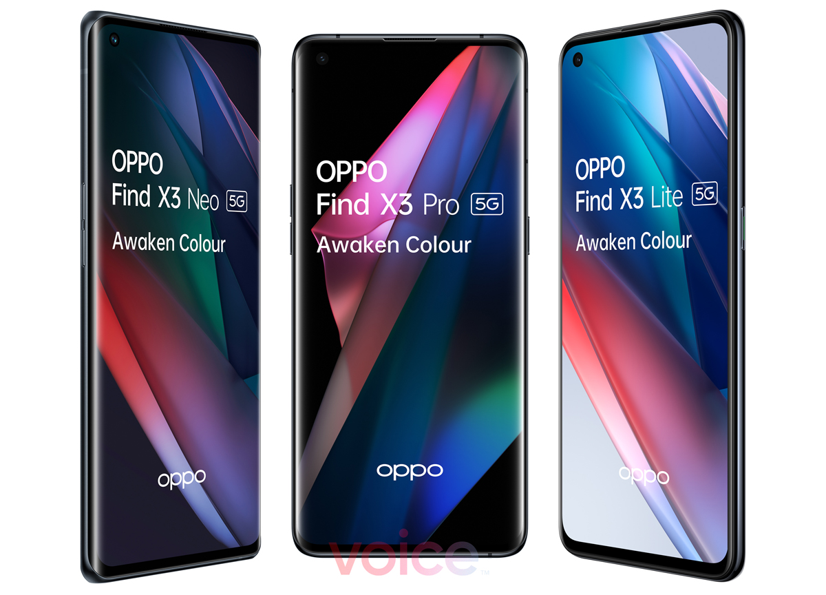 OPPO Find X3 Three Models Promo Images Leak