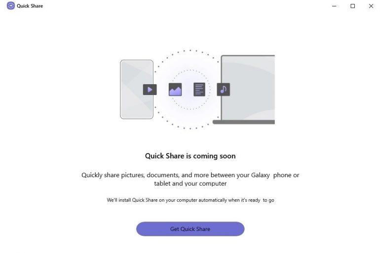 Samsung Quick Share Windows 10