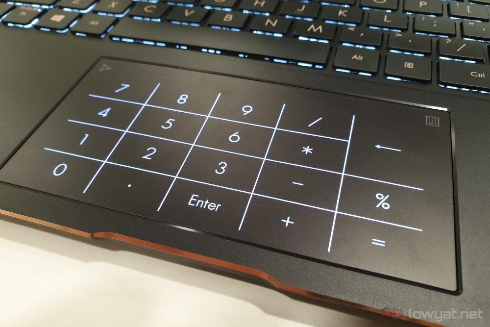ASUS ZenBook Flip OLED numpad