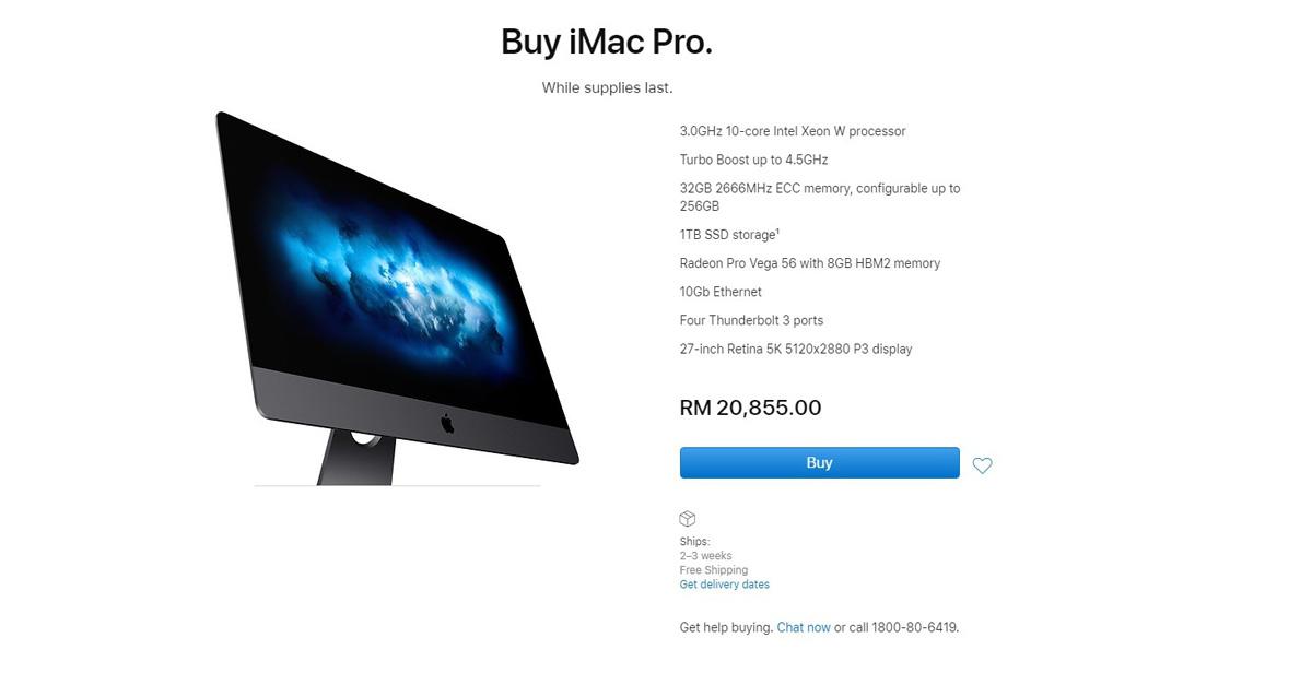 Apple Discontinues iMac Pro Model