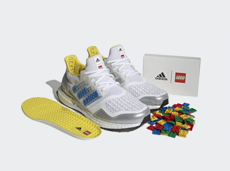 Adidas Ultraboost DNA x LEGO Plates running shoes