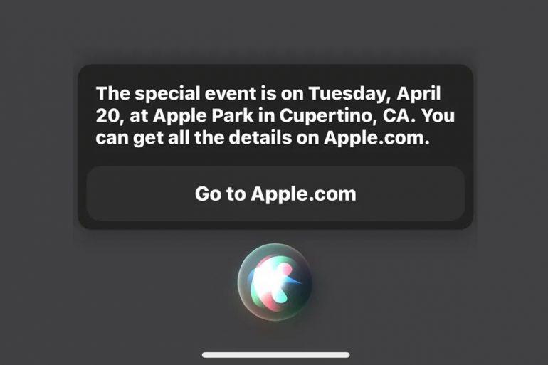 Apple Accidentally Leaks Unannounced Event Date… Via Siri ...