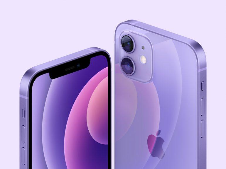 Apple iPhone 12 mini Purple Colour
