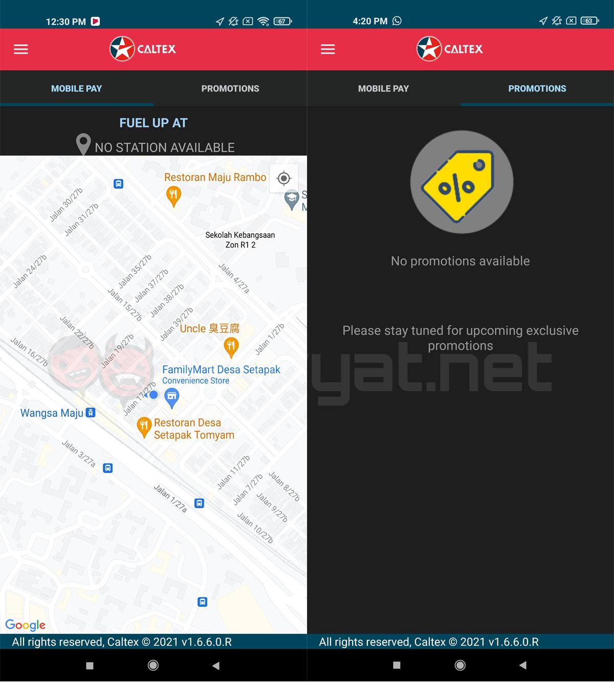 Caltex CaltexGO remote cashless refueling app Malaysia