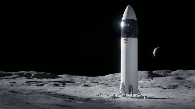 NASA spacex moon lander