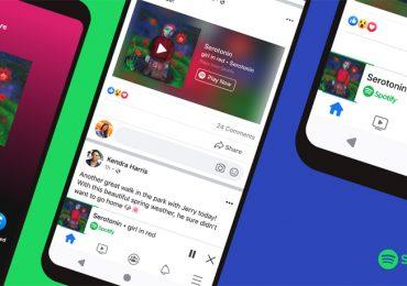 Spotify Facebook Miniplayer feature