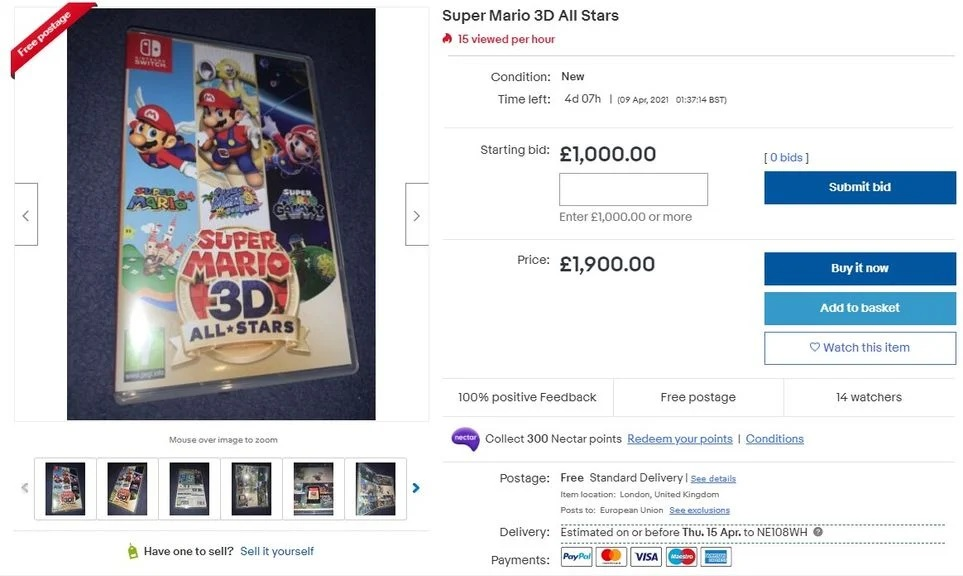 Super Mario 3D All-Stars scalper