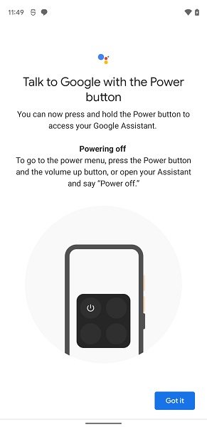 Google Assistant power off phone