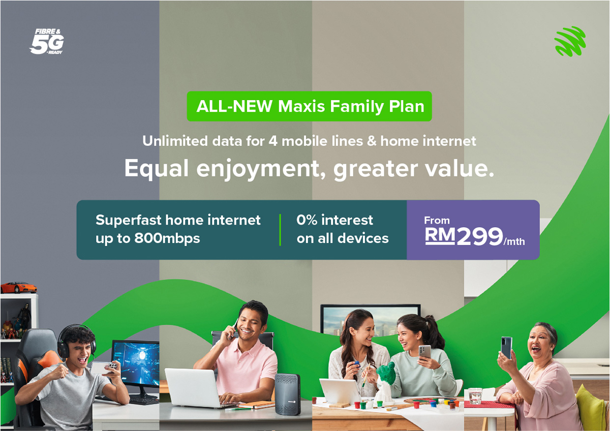 Maxis Family Plan Broadband Mobile Unlimited