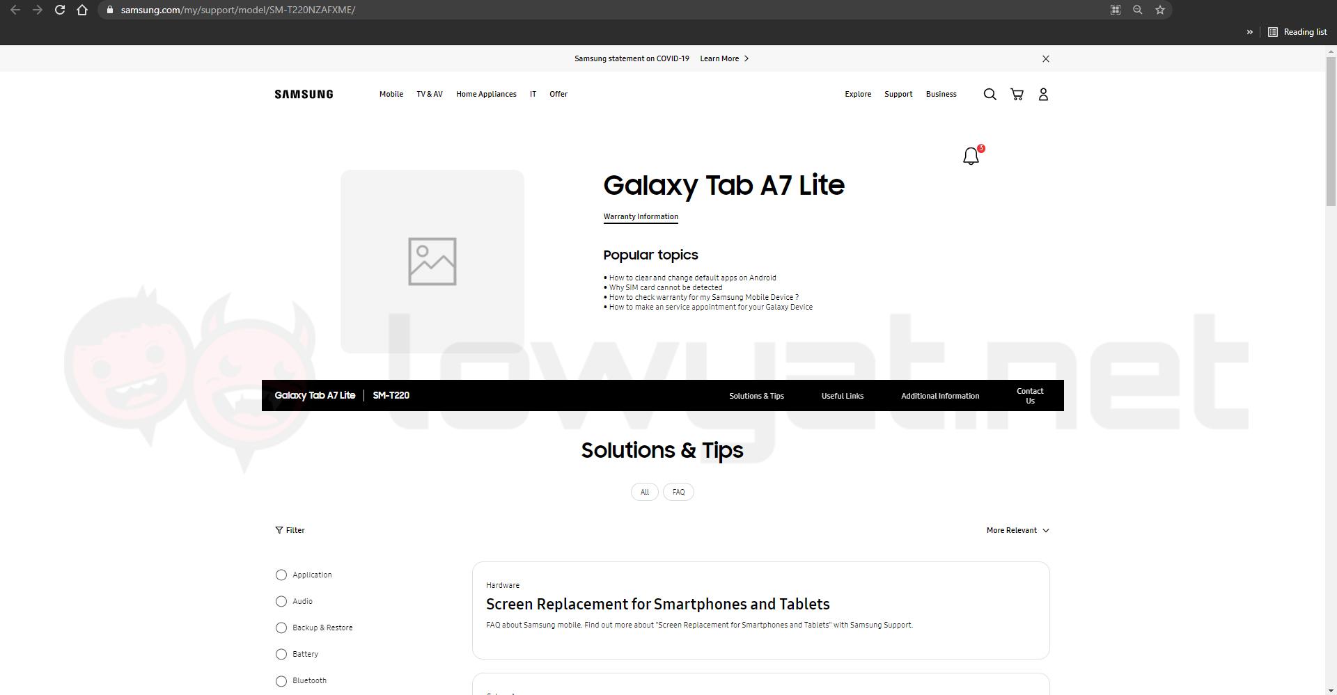 Samsung Galaxy Tab A7 Lite Malaysia
