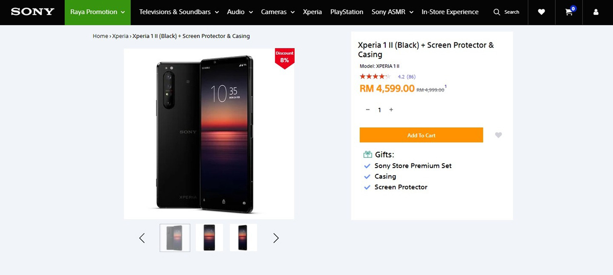 Sony Malaysia Xperia 1 II RM400 Rebate discount promotion