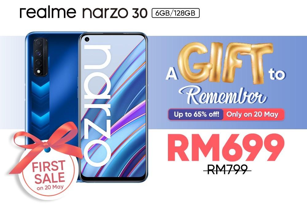 realme Narzo 30 first sale