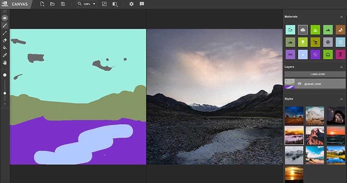 NVIDIA Canvas AI Landscape Scenery App