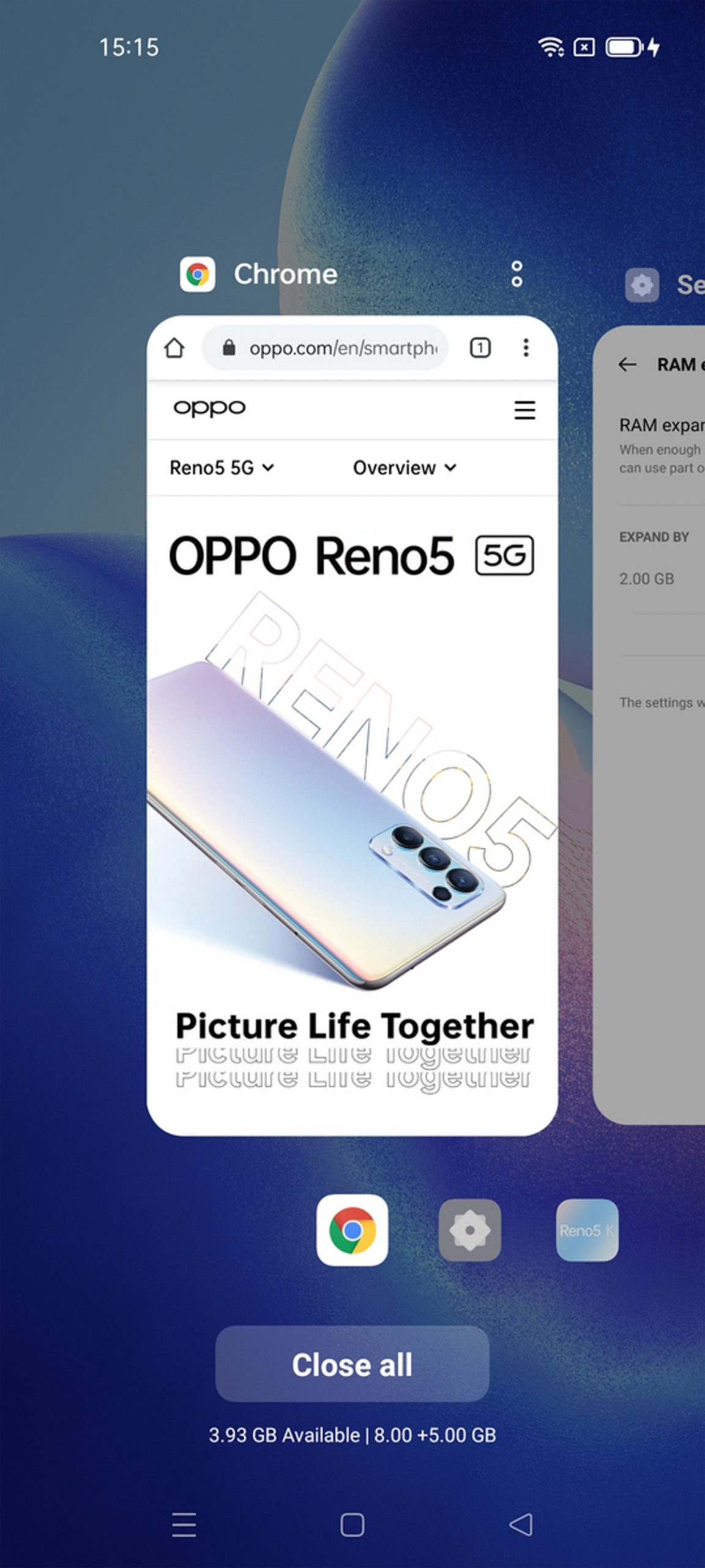 OPPO RAM Expansion Feature Update Reno5 A94 A74