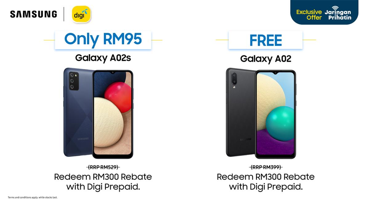 Samsung Galaxy A02 A02s series Malaysia Digi Prihatin