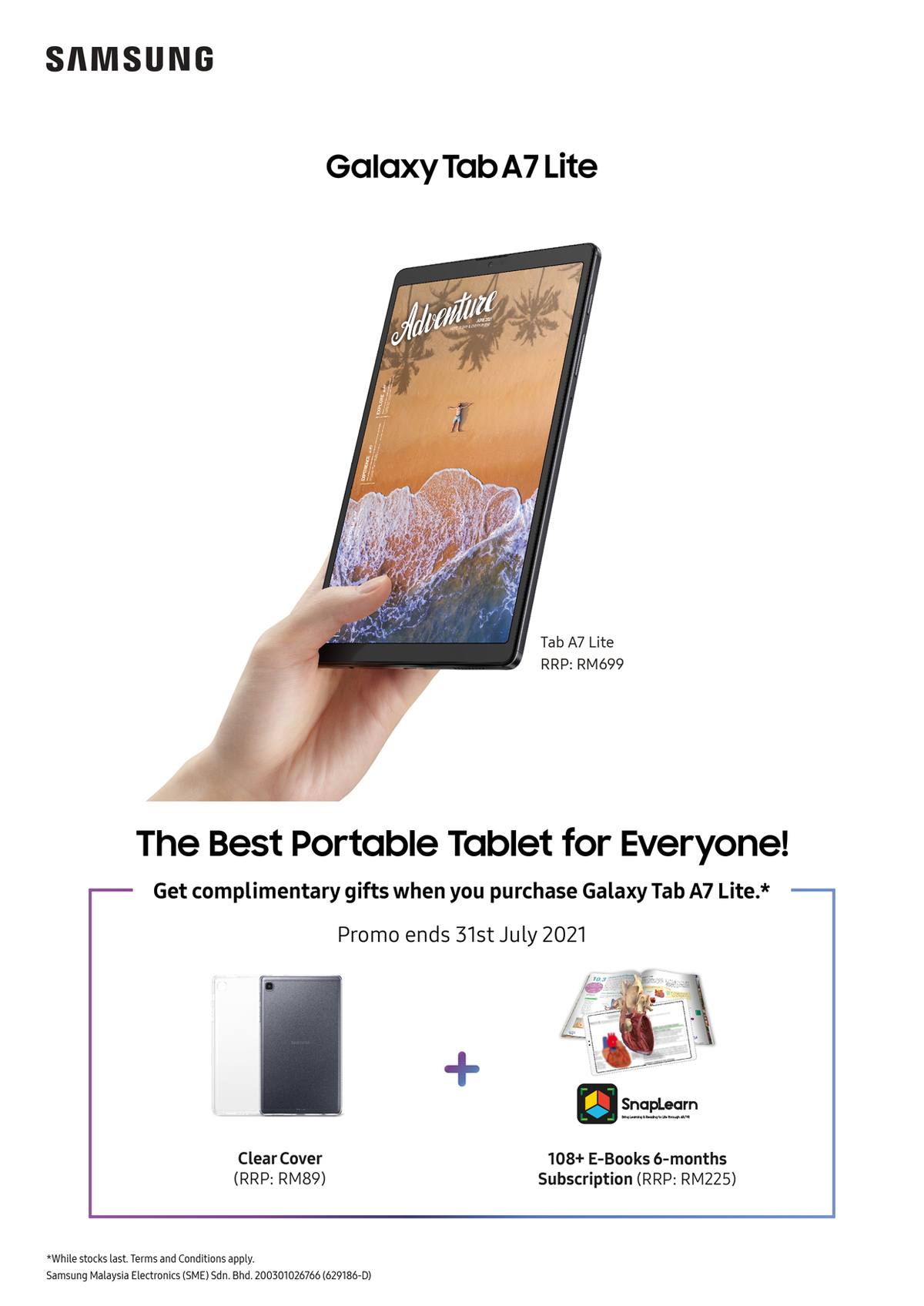 Samsung Galaxy Tab A7 Lite Launches Malaysia