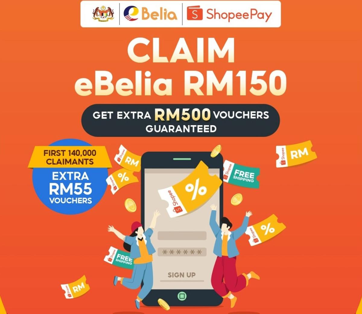 eBelia RM150 credit e-wallet incentive Malaysia