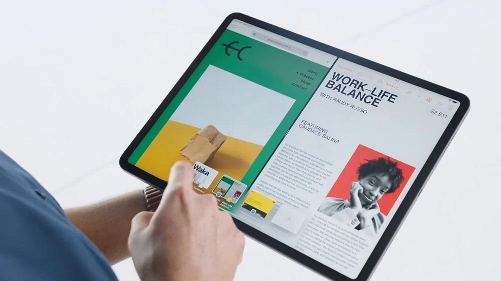 iPadOS 15 shelf