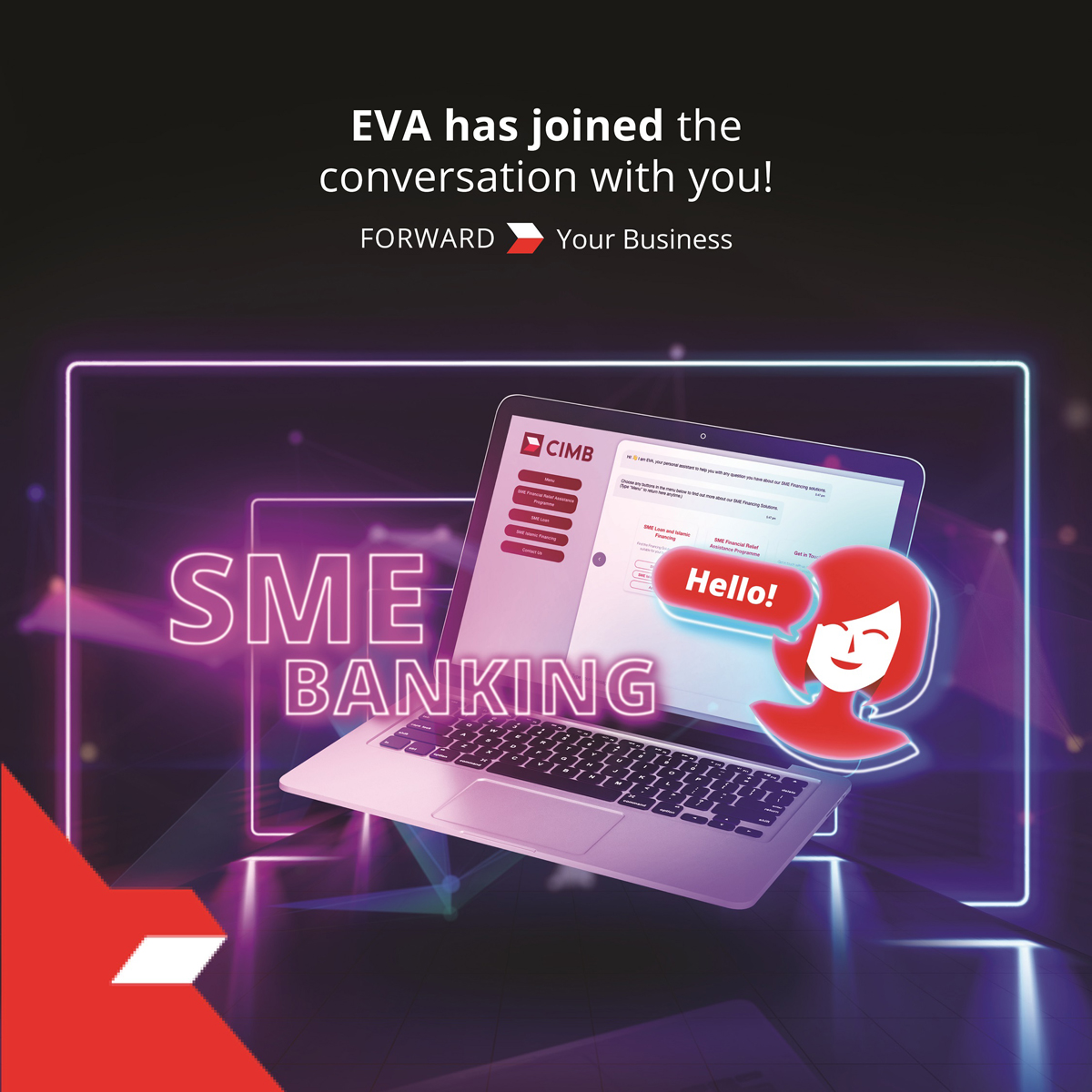 CIMB EVA Chatbot SME App AI Banking Bank
