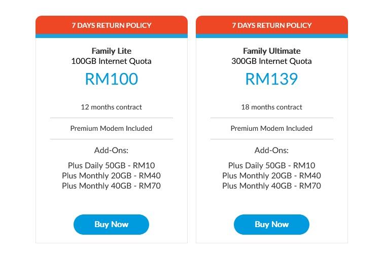 Celcom Home Wireless plans