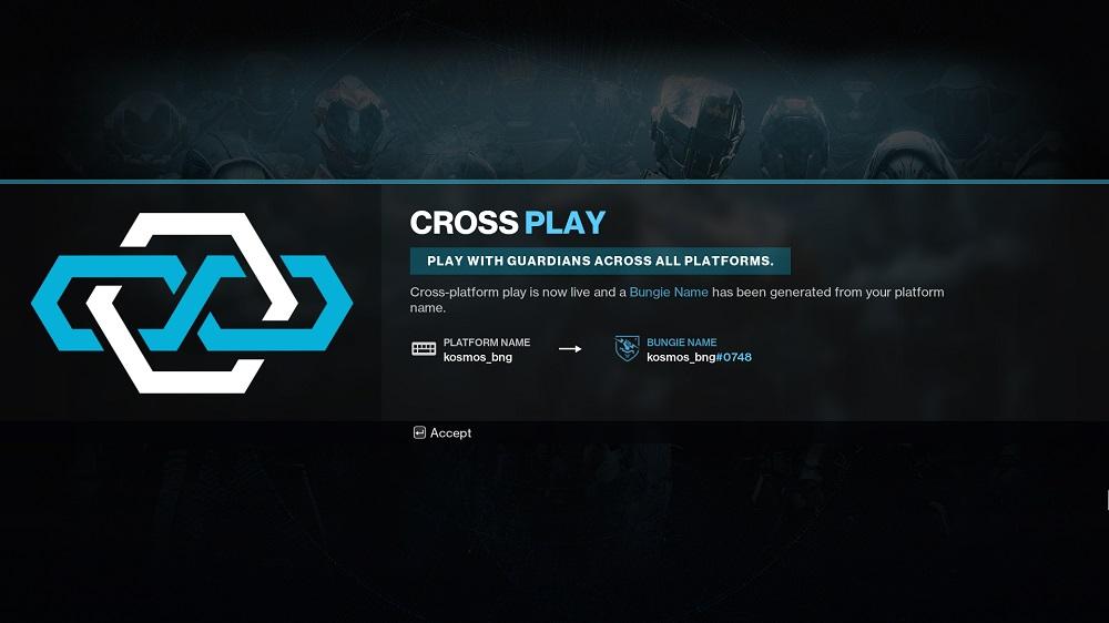 Destiny 2 crossplay Bungie name