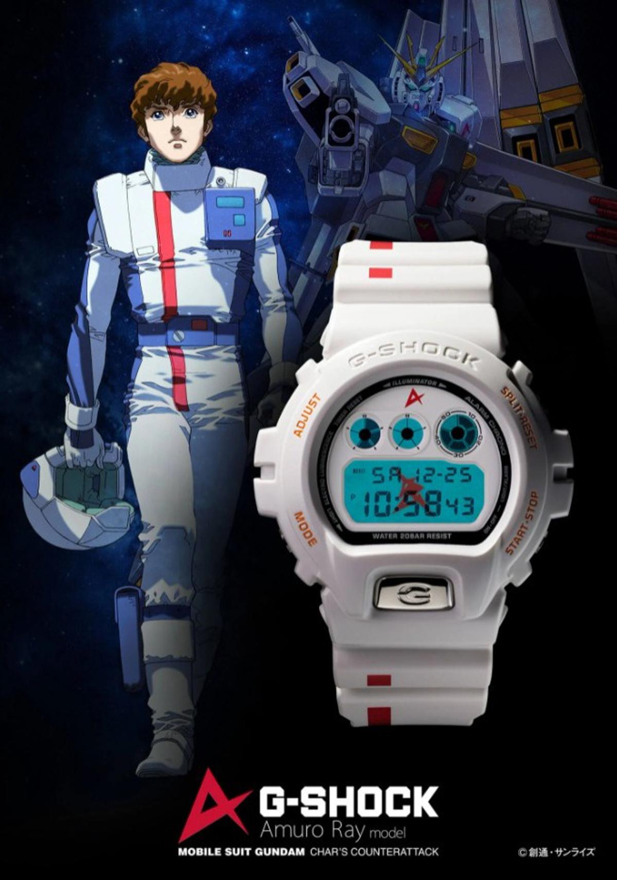 GUNDAM FAN CLUB G-SHOCK DW-6900 AMURO RAY limited edition watch japan casio